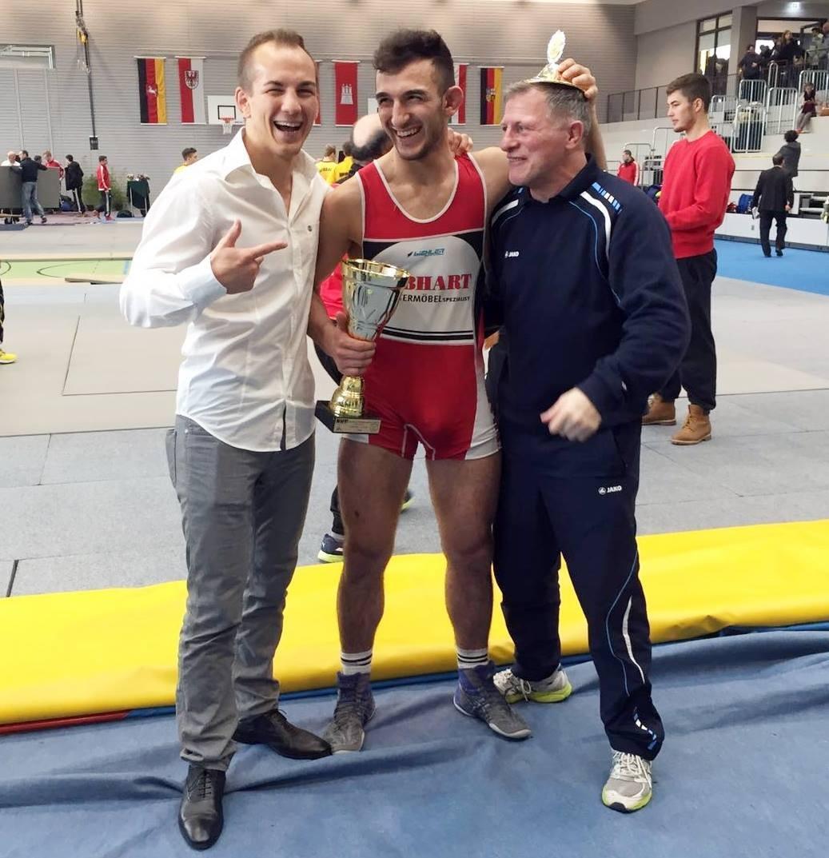 Hier zu sehen: Weltmeister Frank Stäbler, Roland Schwarz & sein Coach Matthias Fornoff