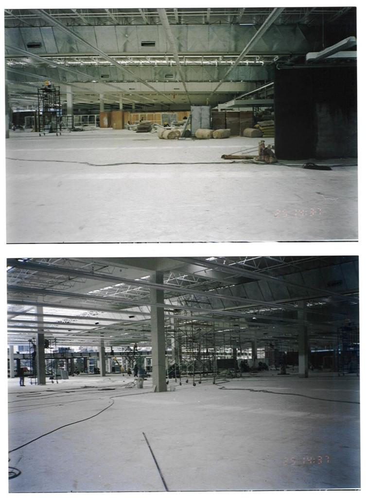 Estructura piso de ventas Plaza Universidad Cabeza & Sastre