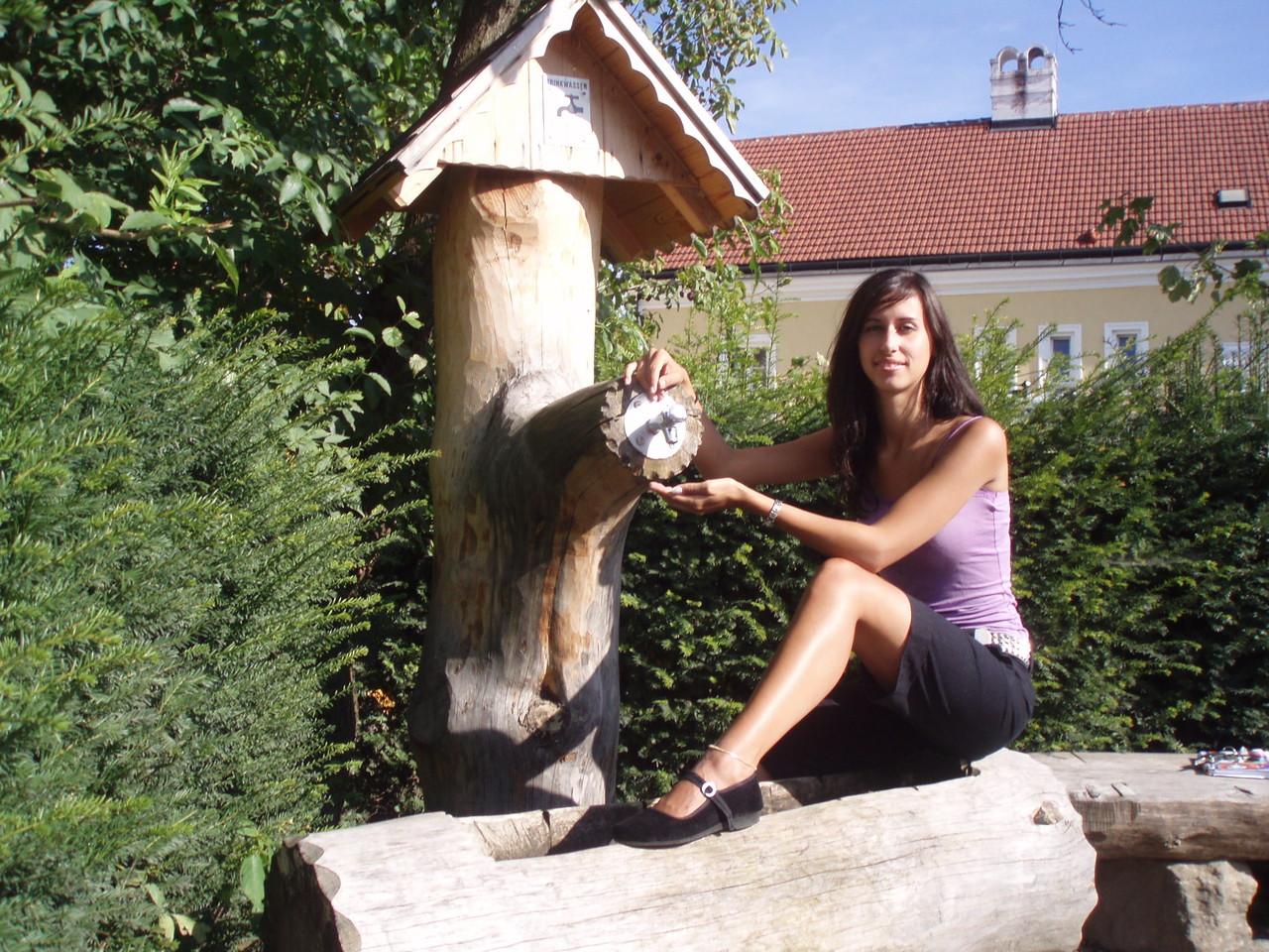 Einen artesischen Brunnen gibt es in Ma.Laach am Jauerling, das Wasser fließt ...