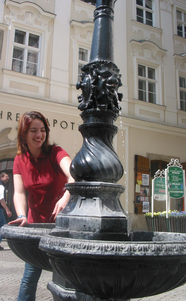 Statt dessen gibt es am Täglichen Markt einen Gußeisenbrunnen mit Grander-Wasser