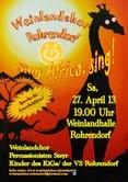 Einladung zum Frühjahrskonzert des Rohrendorfer Weinlandchores. Foto: zVg