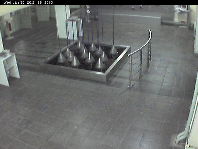 """Die DonauUni birgt einen interaktiven Brunnen von G. Wolfsberger, genannt  """"Lisboa 2000""""."""
