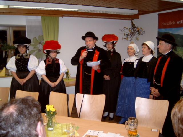 Die Trachtengruppe Gutach