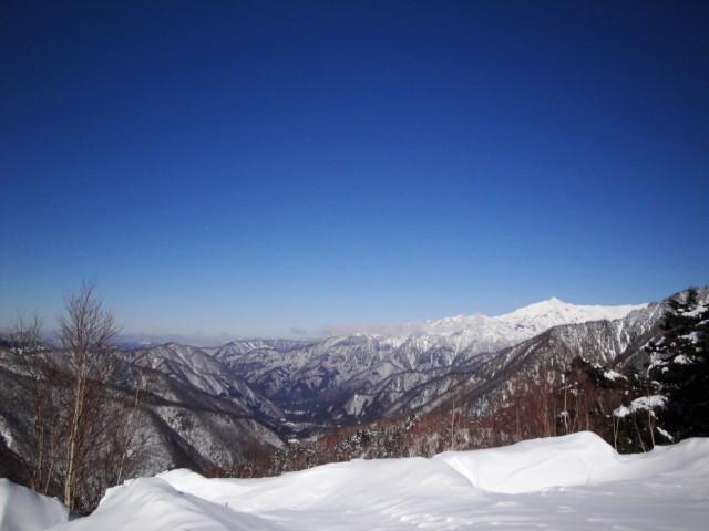 平湯温泉スキー場 第2リフト終点より