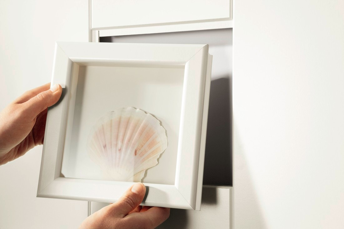 MEISTER Kreativbox für Design-Rahmen Uni weiß glänzend DF 324