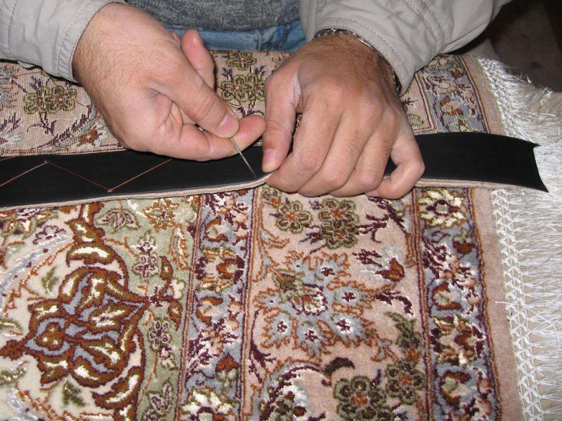 Leder Band zur Verstärkung eine Teppich