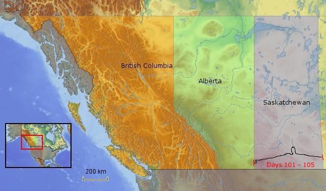 Route Saskatchewan