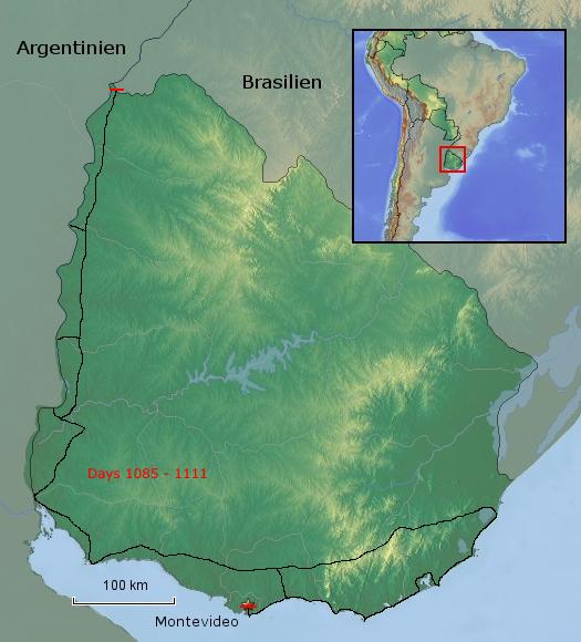 Übersichtskarte von Uruguay