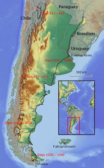 Übersichtskarte von Argentinien