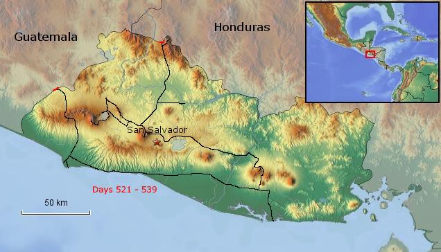 Übersichtskarte von El Salvador
