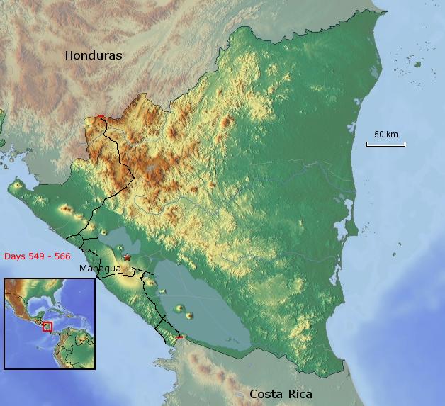 Übersichtskarte von Nicaragua