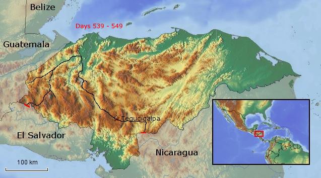 Übersichtskarte von Honduras