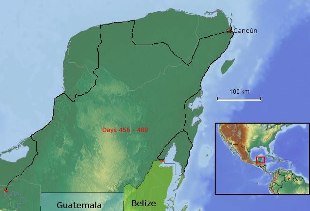 Route Yucatán Halbinsel