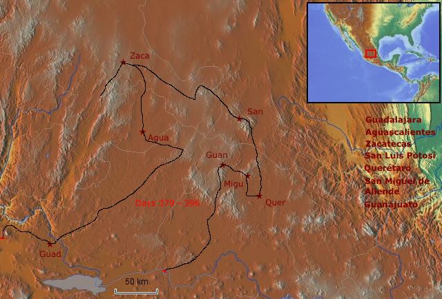 Route zentrales Hochland
