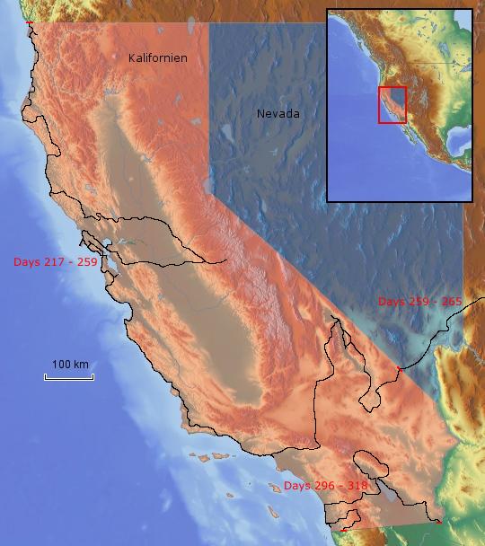 Route Kalifornien 2