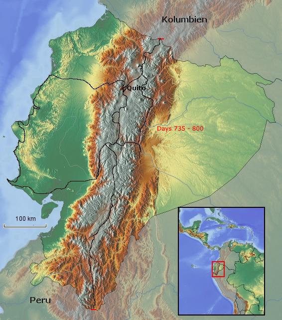 Übersichtskarte von Ecuador