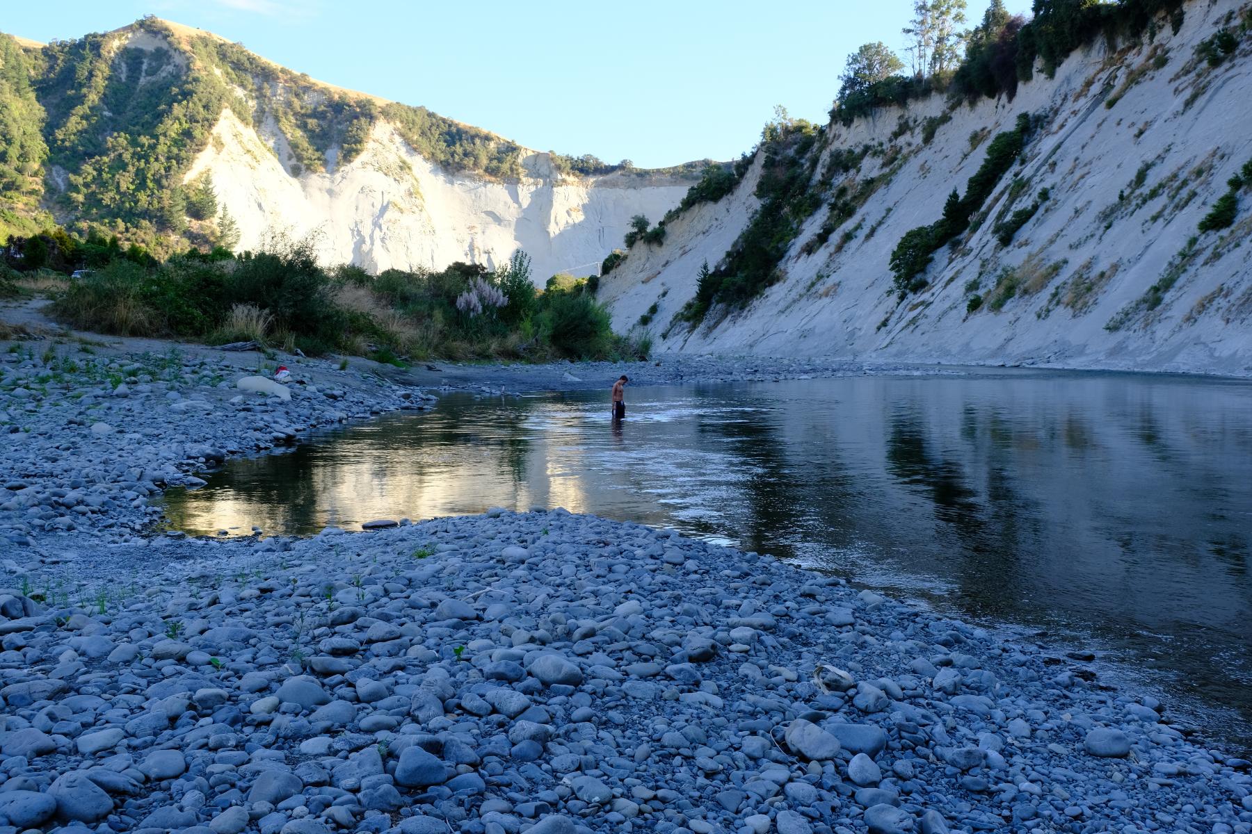 Erfrischung im Rangitikei River