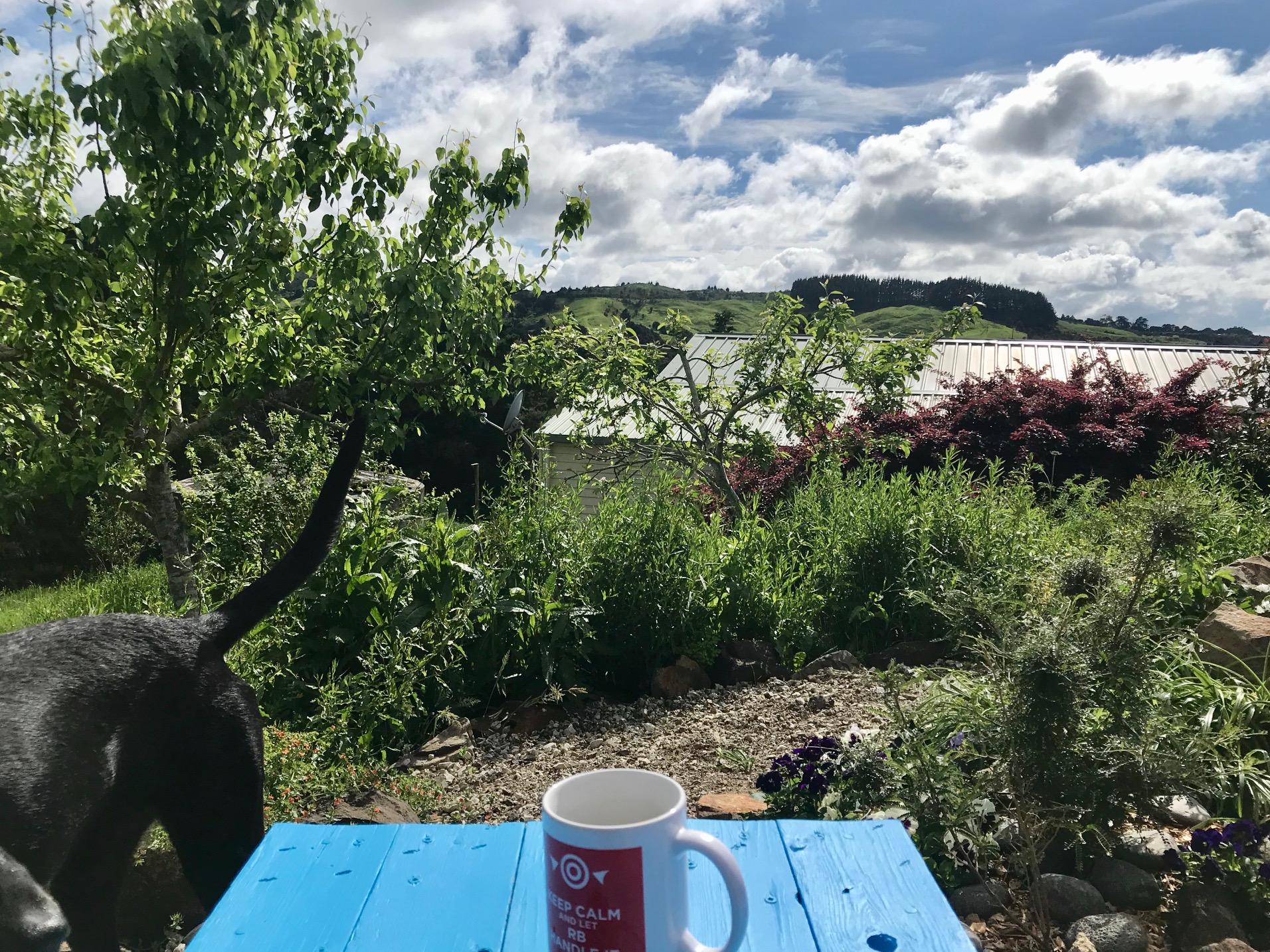Aussicht von der Frühstücksbank
