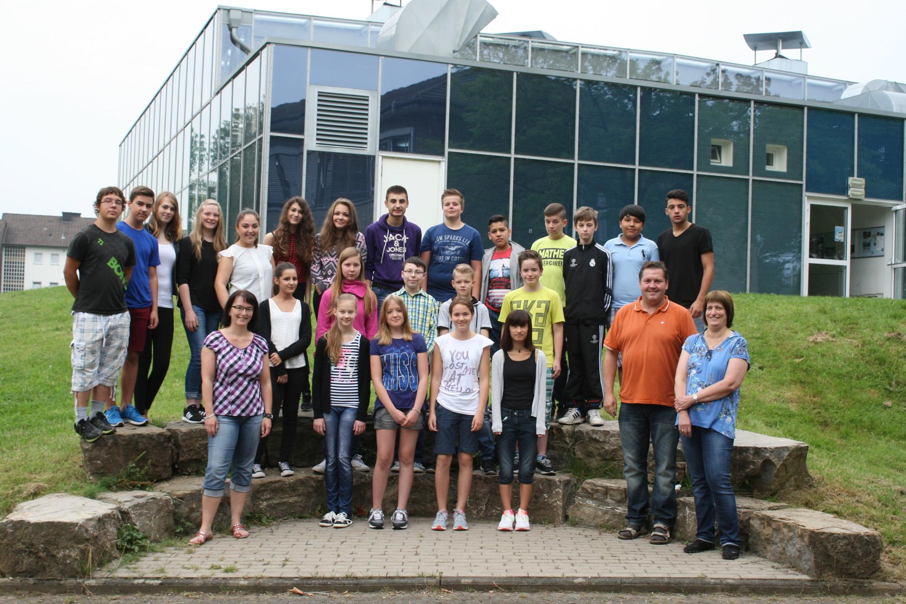 Klasse 8c. Klassenlehrer: Frau Schulz und Herr Deitert