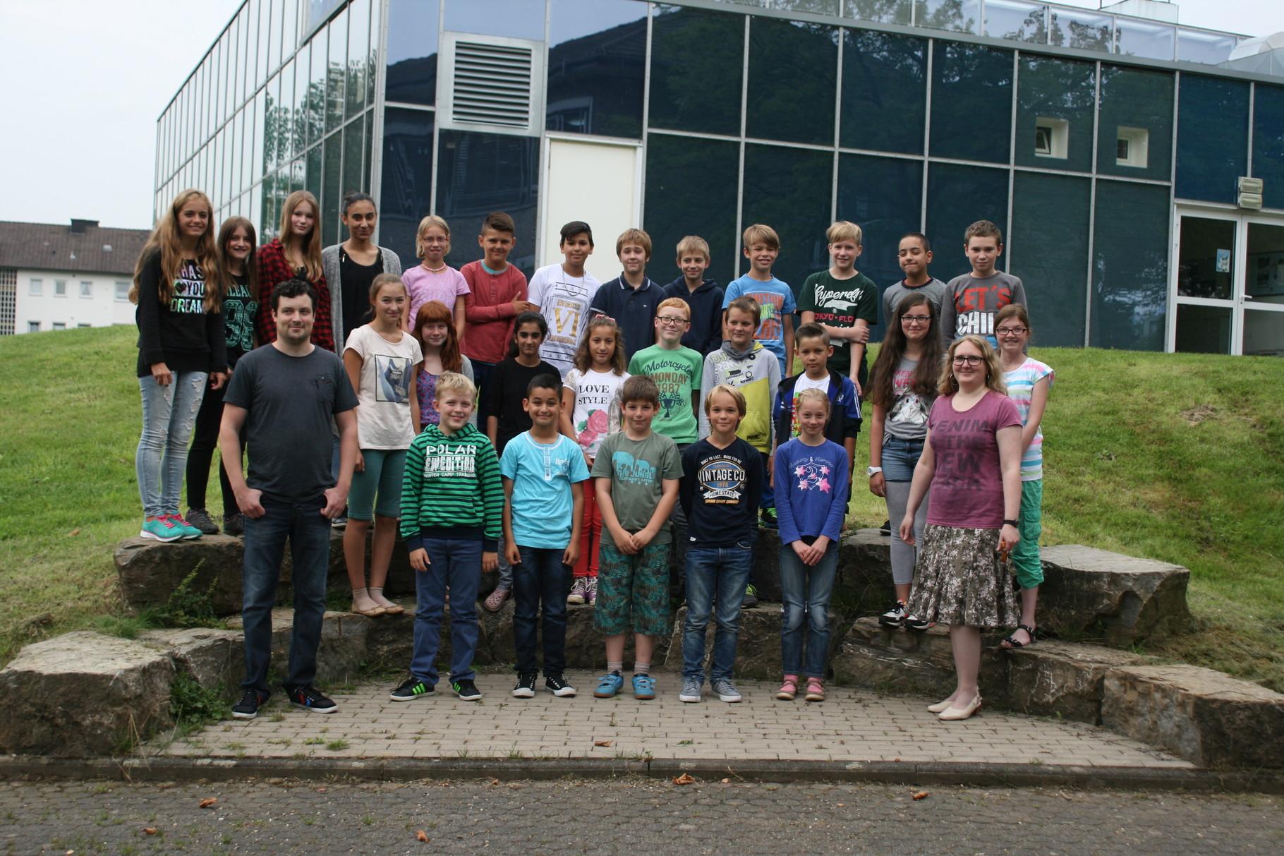 Klasse 6c. Klassenlehrer: Frau Drach und Herr Weber
