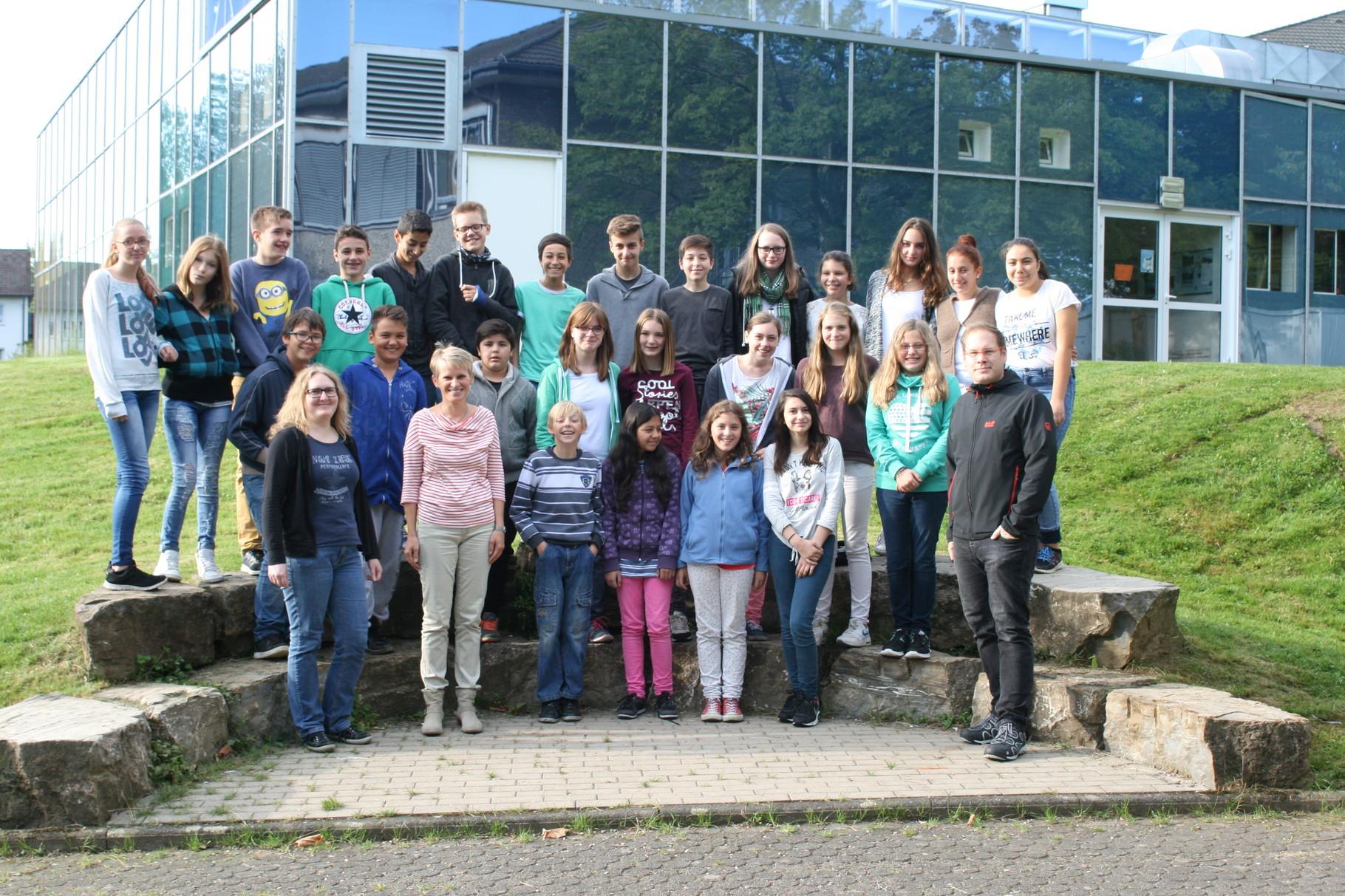 Klasse 7c. Klassenlehrer: Frau Drach und Herr Clever