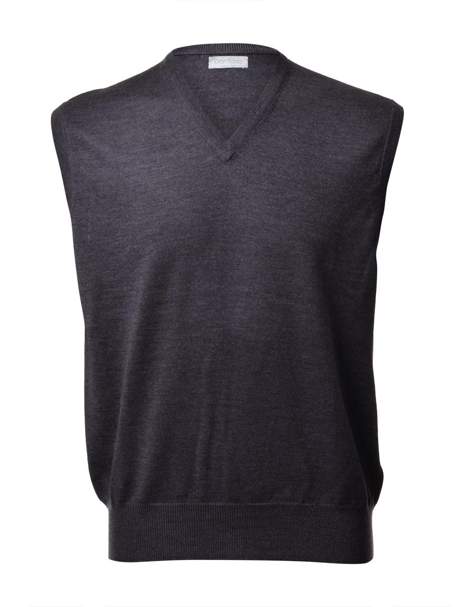 Gran Sasso Uomo Gilet Taglie Grandi Chiuso ( pullover s m) Lana Merinos  Extra 422efaa768f