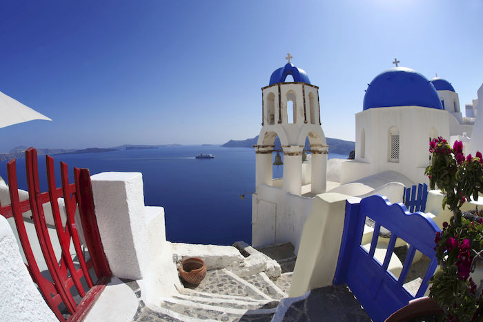 Santorini. Ispirazioni Bianco e Blu.