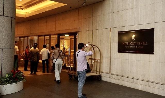 横浜インターコンチネンタルホテルの入口