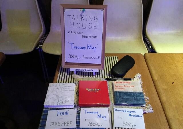 トーキングハウスのCD物販ブース