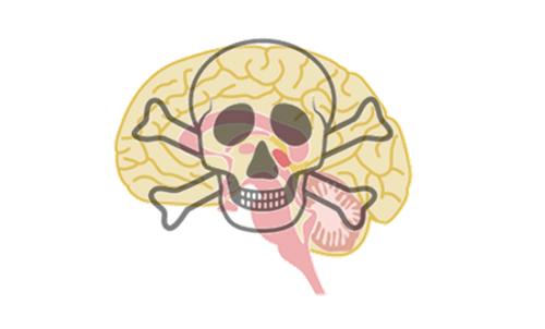 脳内に悪影響を与えることを示すイラスト