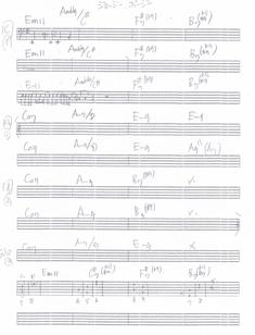 佐倉 一樹先生が書いた手書きの譜面