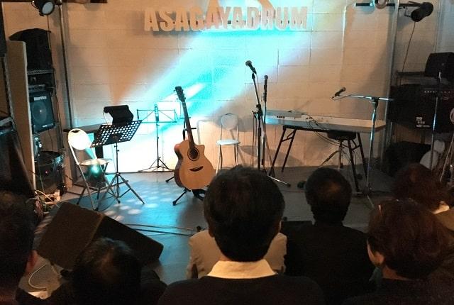 Zepp出演をかけた決勝イベントの「あさがやドラム」の会場内