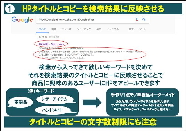 「HPタイトルとコピーを検索結果に反映させる」の説明画像