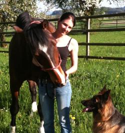 Anima-Balance: Meine Stute «Wali» und mein treuer Hund «Böbbi» - ein unschlagbares Team!