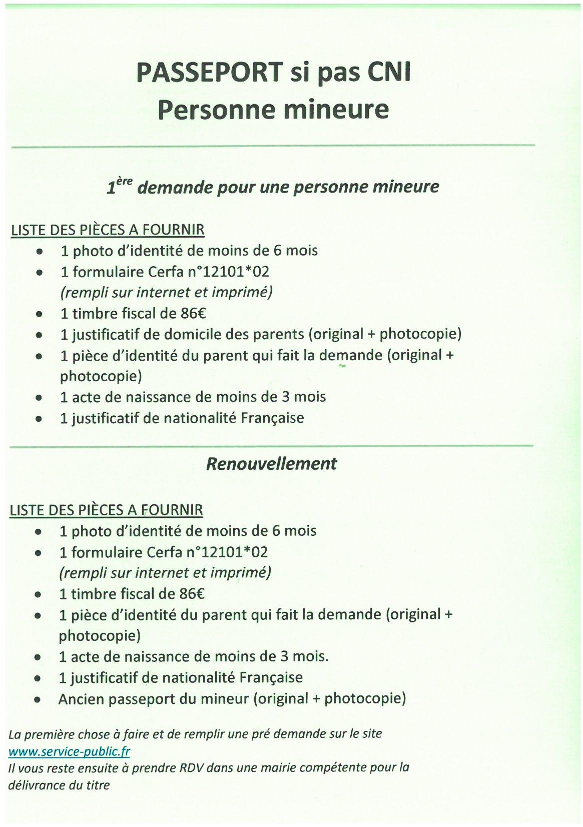 Demande De Passeport Les Pieces A Fournir Selon Votre Cas Aubas Dordogne