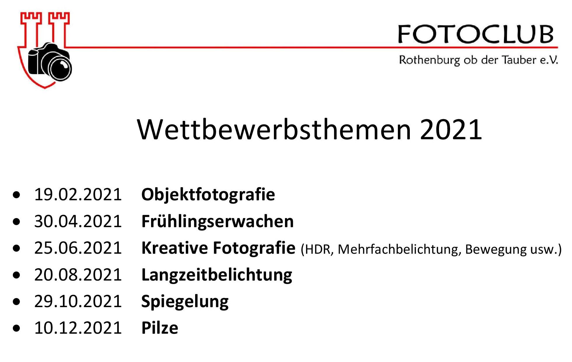 Wettbewerbsthemen 2021