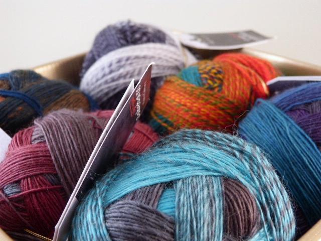 Wolle mit langem Farbverlauf
