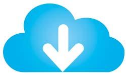 Wolke mit einem Pfeil nach unten als Symbol für Download
