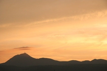 Coucher de soleil sur la chaîne des Puys
