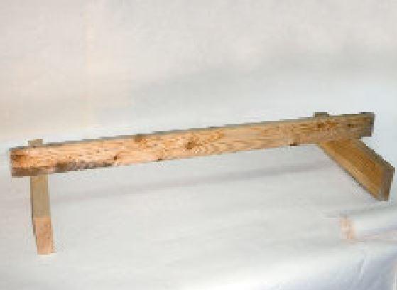 Einfache, oben abgerundete Sitzstange für Hühner und Zwerghühner