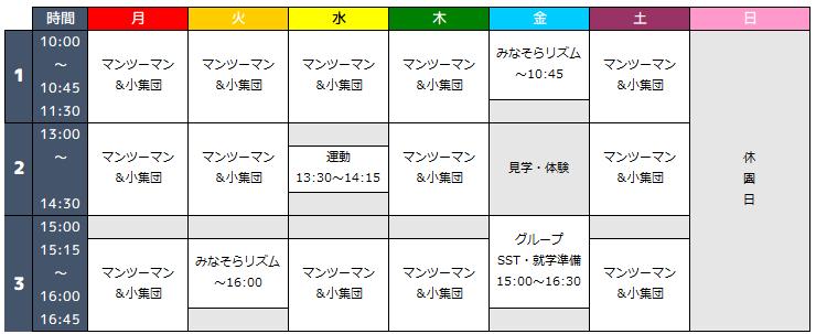 例:蒲田園2021年度プログラム