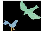 見守る鳥イラスト