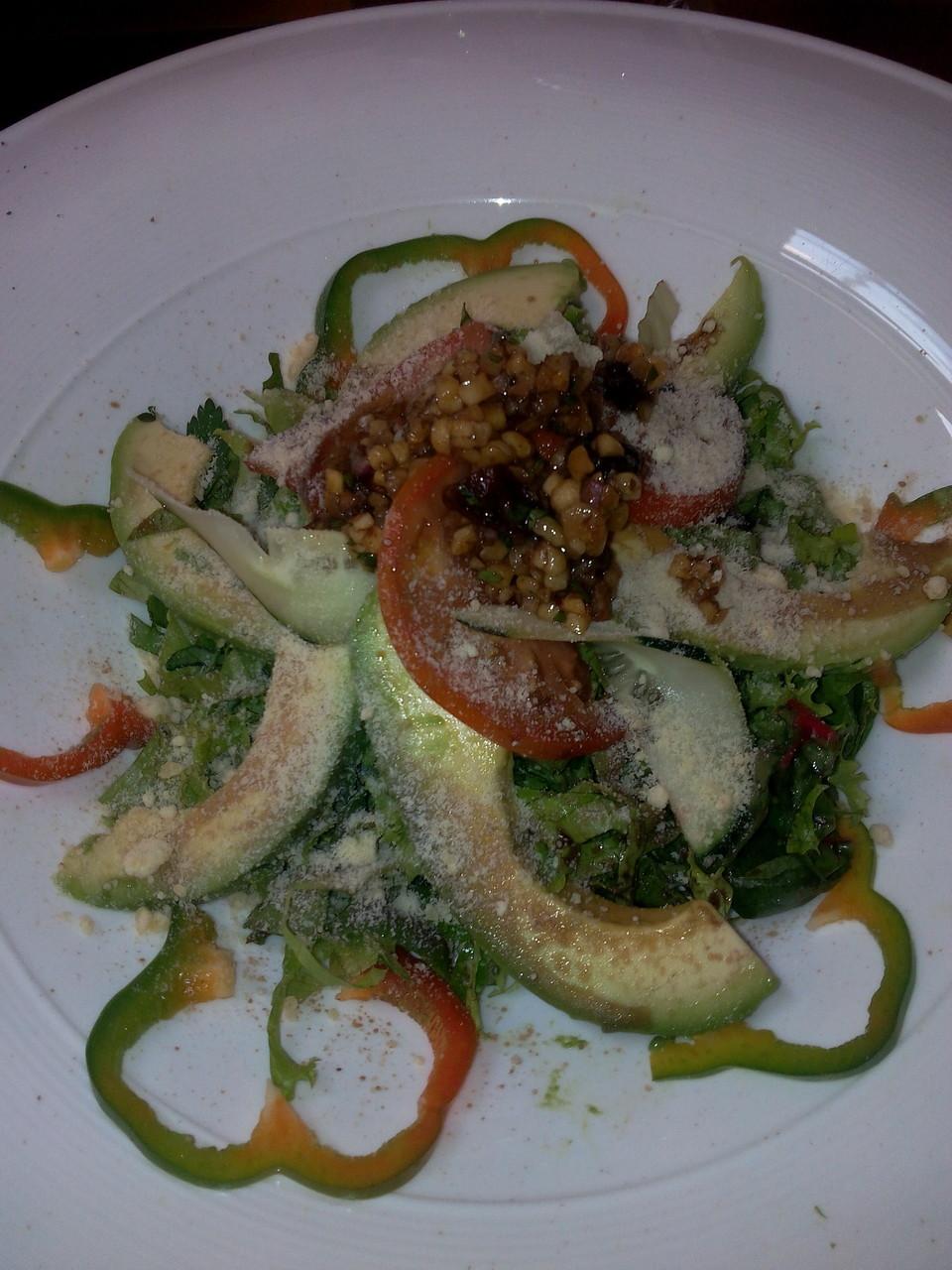 Salade au Don Luis Monteverde.