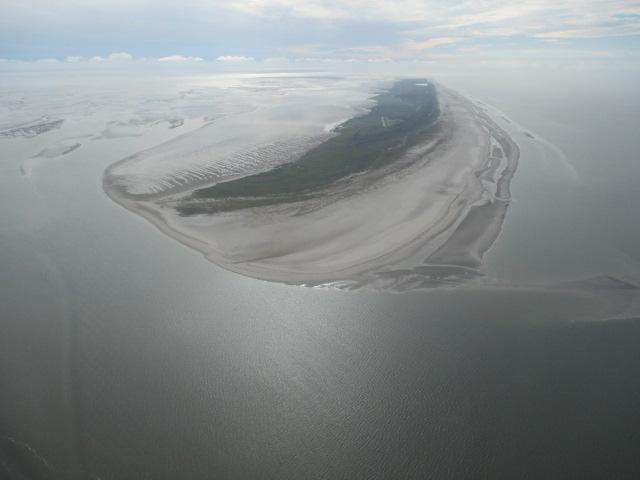 Flug über die ostfriesischen Inseln