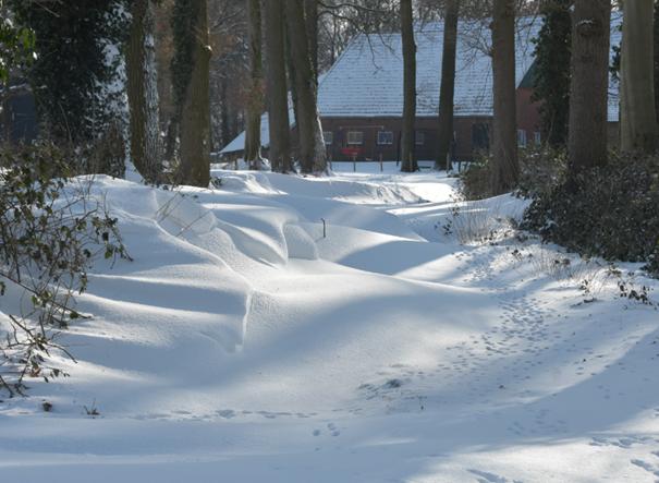 Sneeuwjacht en sneeuwduinen in Twente februari 2021