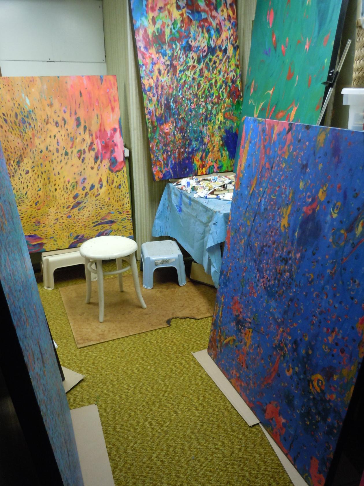 Studio scene, 2014, (photo- K. Ikeda)