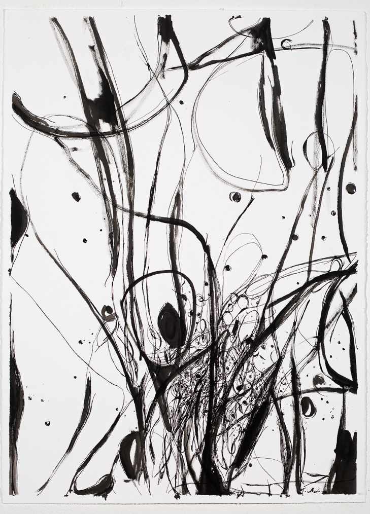 """Vision of Cosmic Tree #I-1"", 2019, ink on watercolor papaer, 30""x22 1/2"", available, $400 unframed"