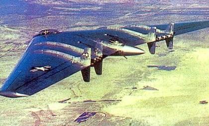 l'YB49 in volo - 1949