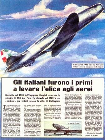 L'eccellenza aerea italiana degli anni 30': il Ciampino-Chiamparoni primo aereo a reazione al mondo