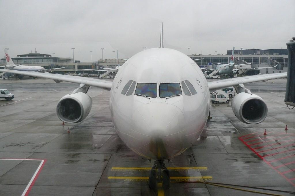 Unser Flieger, der sicher und pünktlich, über Grönland, Baffin Island und Victoria Island fliegend in Vancouver landete.